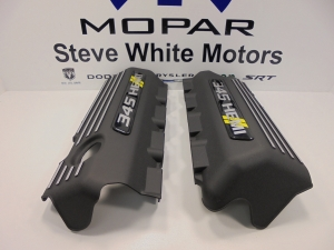 Challenger Charger Engine Cover Valve 5.7L 345 Hemi Mopar 2 Pcs Black & Yellow