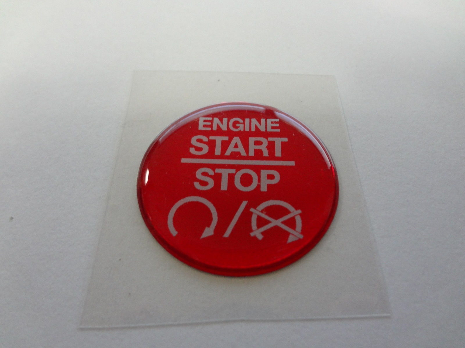 "Keyless Go Push Button Decal ""Engine Start Stop"" w/Symbols"