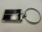 New Dodge Logo Black & Chrome Key Chain Keychain Keychains Rectangle
