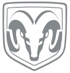 New Dodge Ram Truck 8 Inch Decal Sticker Vinyl Ram Logo Silver