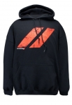 New Dodge Rhombus Classic Fit Adult Hooded Sweatshirt Black & Red Large