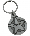 New Jeep® Star Key Chain Keychain Tag Antique Silver 1 3/8""