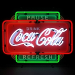 New Coca Cola Pause Refresh Silkscreen Neon Sign By Neonetics 5Ccprf