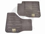 MAT KIT-FLOOR FRONT - CREW CAB/MEGA CAB - CANYON BROWN