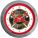 New Fire Department Neon Wall Clock 15 By Neonetics