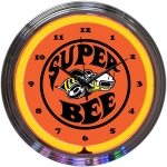 "New Dodge Super Bee Neon Wall Clock 15"" By Neonetics"