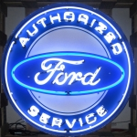 New Authorized Ford Service 36 Inch Neon Sign In Metal Can