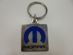 New Mopar Colored Pewter Key Chain Tag Mopar Logo Blue