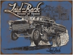 New Laid Back USA '55 Chevrolet Gasser Hot Rod Man Cave Bar Metal Embossed Sign