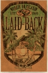 Laid Back Beach Hut Cabana Pool Hot Rod Man Cave Bar Canvas Banner Sign New