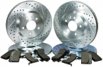 11-14 Mustang Gt Premium Upgrade Performance Brake Kit Slotted Drilled Hawks Pad