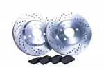 11-14 Mustang Gt Premium Upgrade Performance Brake Kit Slotted Drilled Hawks Frt