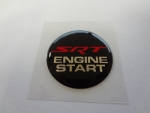 "Keyless Go Push Button Decal ""SRT Engine Start"""