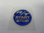 "Keyless Go Push Button Decal ""RT Start Stop"" Blue"