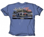 Laid-Back Garage Mopar Dodge Do The Fillin You Do The Chillin T Shirt Blue Large