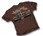 Laid-Back Garage Mopar Dodge Do The Fillin You Do The Chillin T Shirt Chocolate