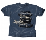 Laid-Back Garage Mopar Dodge Lb Tri Challenger T-Shirt T Shirt Midnight Blue Lar