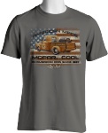 American Made Mopar Cool Truck Hemi Parts & Accessory Tshirt T Shirt Grey Large