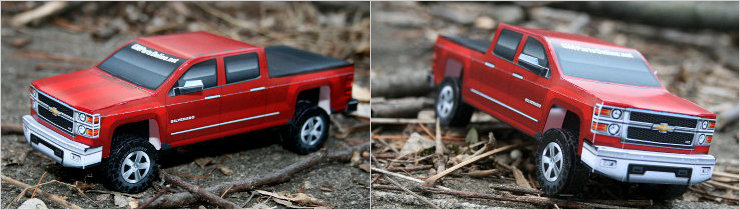 Paper model of new 2014 Chevy Silverado