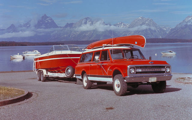 Suburban towing boat