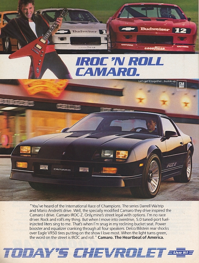 Camaro ad rock roll