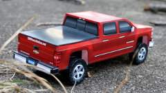 Right rear view paper Silverado