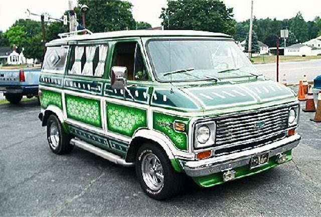 Wild chevy van paint 1