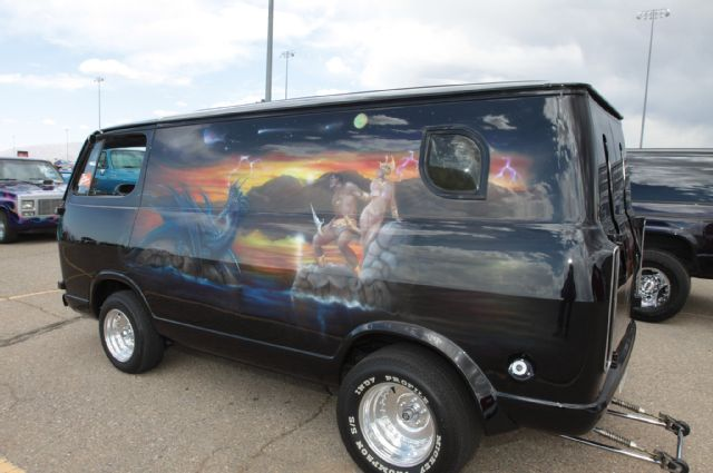 Wild chevy van paint 4