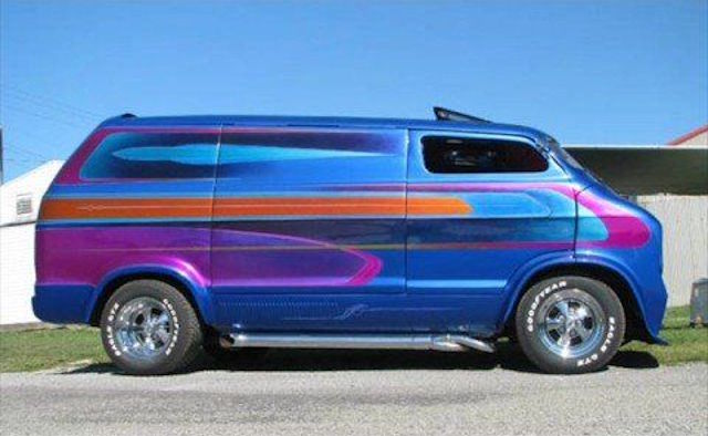 Wild chevy van paint 6