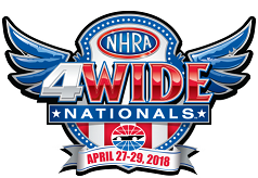 NHRA Four-Wide Nationals logo