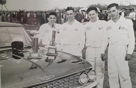 Charleston Dragway Winners Circle - Dean Gregson, Gordon Carlson, John Healey, Ralph Poirier