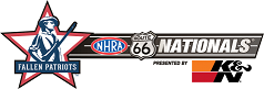 Fallen Patriots NHRA Route 66 Nationals presented by K&N Filters logo