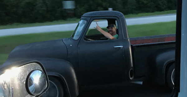 Gumby and his Ford F100 take to the road!