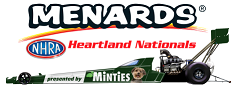 Menards NHRA Heartland Nationals presented by Minties logo
