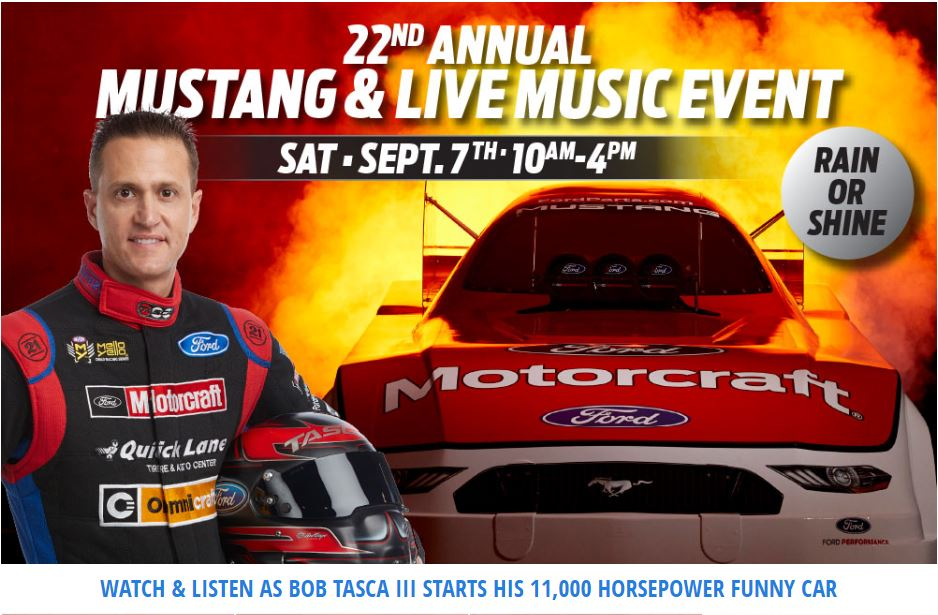 Join us Tasca's Annual Mustang and Live Music Event on Saturday, September 7, 2019