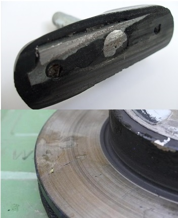 Riding the brakes downhill can damage brake pads and rotors.