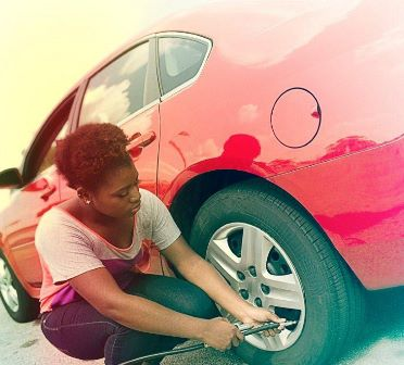Check your tire pressure regularly to ensure proper inflation. (Photo credit: State Farm)