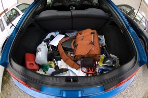 Clean out the interior of your car, including the trunk.