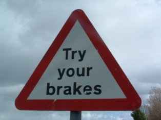 Regularly check your brakes - especially before the winter.