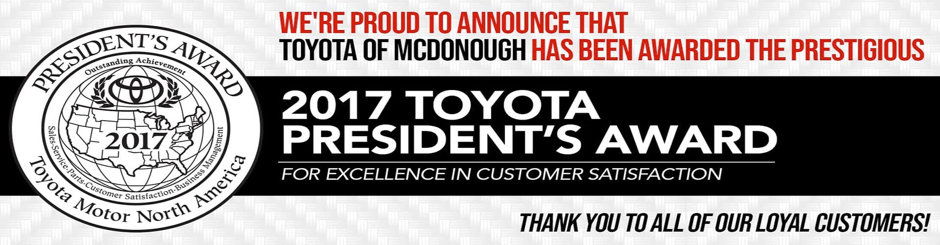 Toyota of McDonough Parts Banner 4