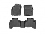 2012 - 2013 Toyota Tacoma Black Front and Rear Rubber Mats