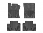 2012 - 2014 Toyota Prius V Black Front and Rear Rubber Mats