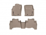 2003 - 2011 Toyota 4Runner Tan Front and Rear Rubber Mats