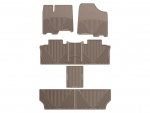 2011 - 2012 Toyota Sienna Tan Front, Rear, and Rear Rubber Mats