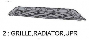 TRD PRO 4Runner GRILLE RADIATOR UPPER    IN STOCK READY TO SHIP