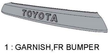 TRD PRO 4Runner GARNISH FR BUMPER