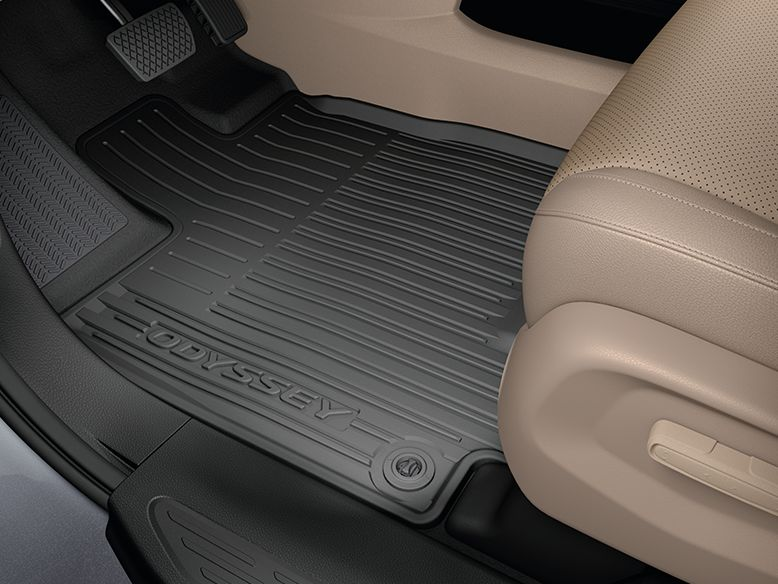 2018 Odyssey -  All Season Floor Mats (High Wall - Black)