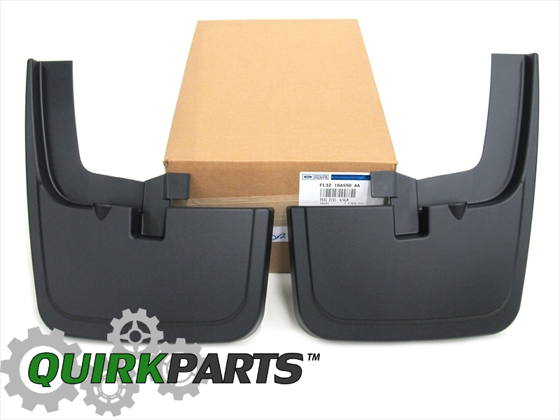 Ford F Front Black Molded Splash Guards Mud Flaps With Lip Flares Oem