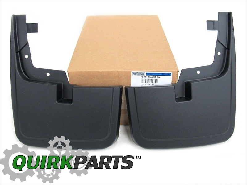 Ford F Front Black Molded Splash Guards Mud Flaps W O Lip Flares Oem New Ford Flz A Ca Quirk Parts