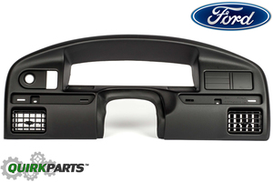 Ford F150 F250 F350 Bronco Black Dashboard Panel Instrument Cluster Bezel OEM
